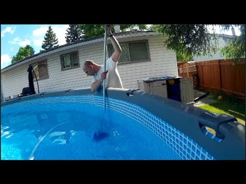 Retrofitting an Intex pool with sand filter for use with a vacuum