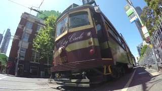 Time Lapse of wooden Tram in Melbourne