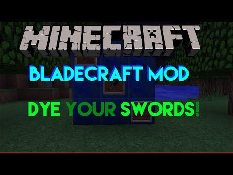 Minecraft Mods - BladeCraft - Dye Your Swords!