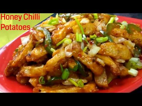How to make crispy chilli honey potatoes at home | Restaurant starter recipe