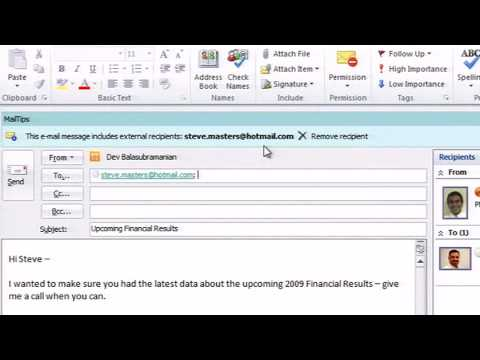 Office 2010 Outlook Features and Use
