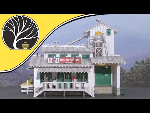 H&H Feed Mill - HO Scale - Built-&-Ready® | Woodland Scenics