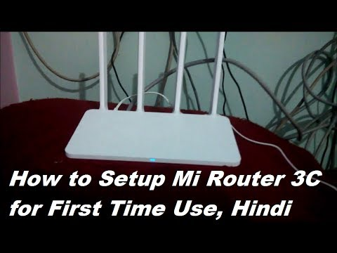 How to Setup MI Router 3C on First Use | Hindi
