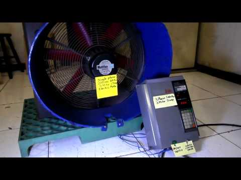 Three Phase Inverter used as Variable Frequency Drive for Single Phase Motor