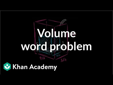 Volume word problem | Measurement | Pre-Algebra | Khan Academy