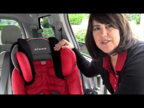 Raising the Head Support on Diono Radian®RXT and Rainier Car Seats