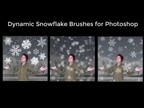 Realistic Dynamic Snowflakes Snow Brushes for Photoshop - Promo Vid