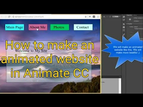 Animate CC Make an Animated Website Responsive Full Screen without any code. Flash Tutorial