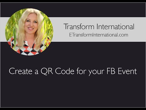 Create a QR Code for your FB Event