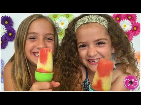 WATERMELON & PINEAPPLE CREAM SWIRL POPSICLES!