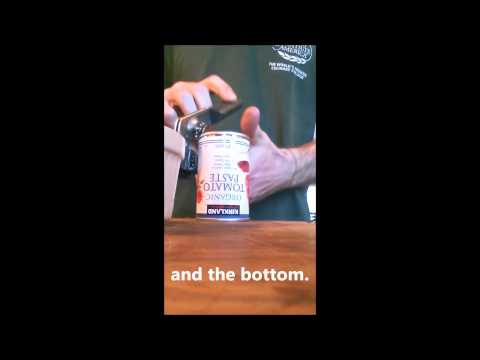 How to open a can of tomato paste