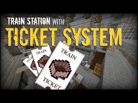 Minecraft - Automatic Train Station with Ticket System