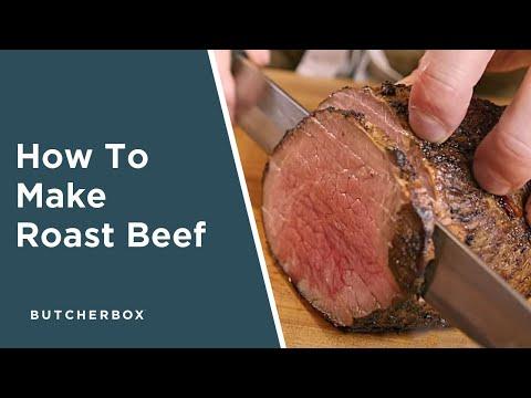 How To Cook a 100% Grass-Fed Roast Beef (ButcherBox Eye Round Roast | Roast)