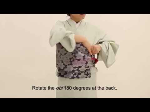 How to Wear a Kimono -Part 4- Tying the fukuro-obi