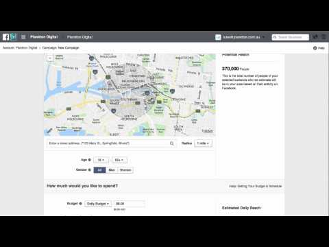 How to setup a Facebook Ads Local Awareness Campaing