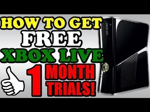 HOW TO GET | FREE XBOX LIVE (MAY 2014) 1 MONTH TRIAL UNLIMITED! STILL WORKING!