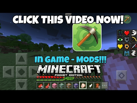 Minecraft PE 1.2.0 How to use In Game - Mods, BEST MCPE 1.2 HACK! MCPE MASTER!!  XRAY,  FLY,  REACH