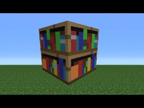 Minecraft Tutorial: How To Make A Bookshelf Statue