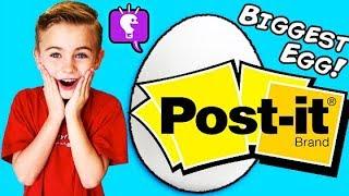Giant POST-IT Surprise Egg by HobbyKidsTV