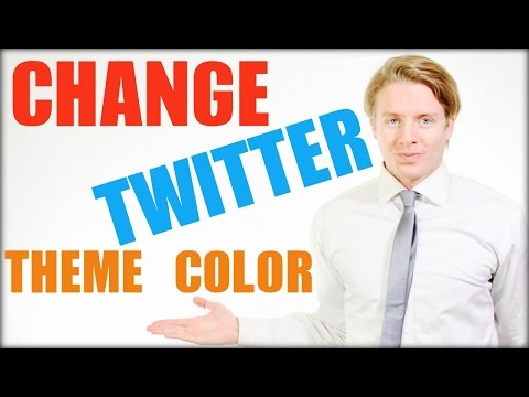 How to change Twitter theme color 2016 - Tutorial