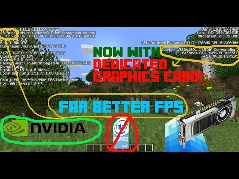 How to use DEDICATED GRAPHICS CARD in Minecraft (Much HIGHER FPS)