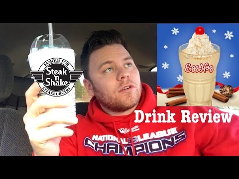 STEAK 'N SHAKE EGG NOG SHAKE REVIEW/ NUTRITION FACTS/CHRISTMAS EDITION | THE SHOWSTOPPER SHOWS