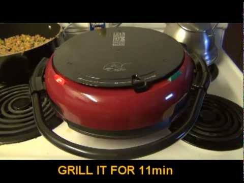 Grilling chicken on George Foreman grill (JERK STYLE)