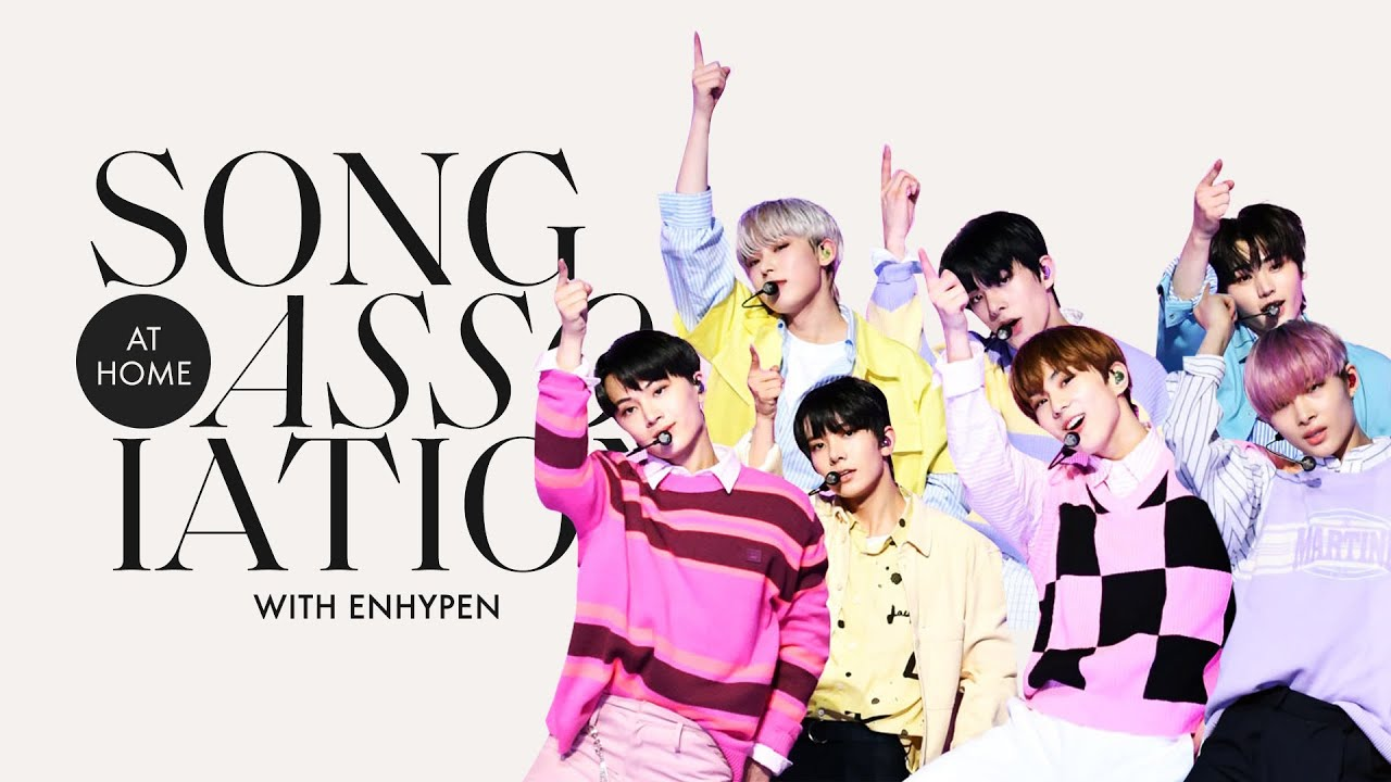 """ENHYPEN Sings BTS, TWICE, and """"Drunk-Dazed"""" in a Game of Song Association   ELLE"""