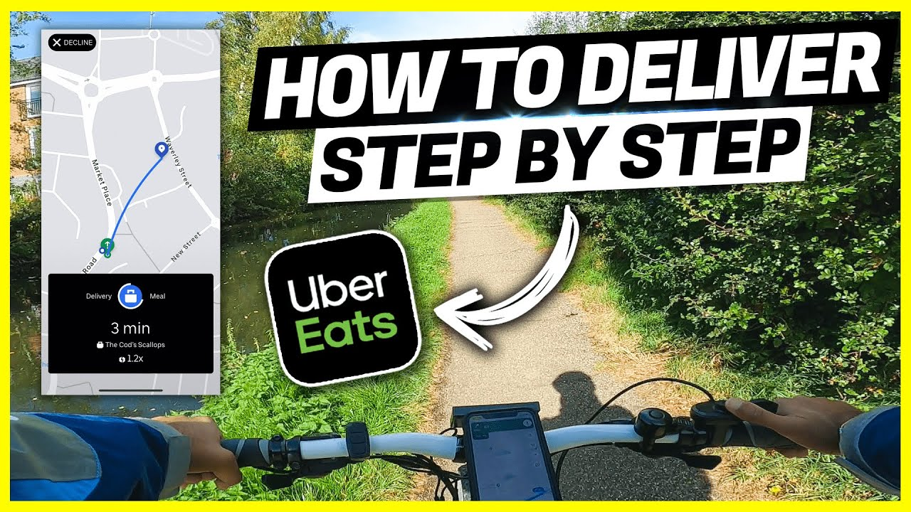 How To DELIVER Uber Eats STEP BY STEP Tutorial