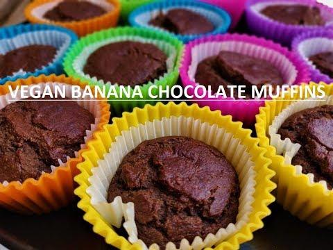 How to make Easy Healthy Banana Muffins Recipe, Vegan & Sugar Free
