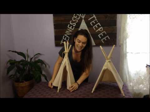 Tennessee Teepee's Mini Tabletop Teepee - how to set up