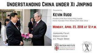 Kevin Rudd ─ Understanding China under Xi Jinping