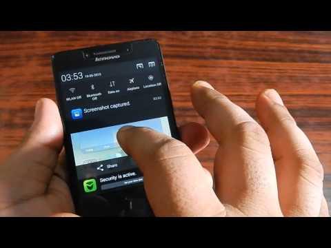 Lenovo A6000 Plus - How to take screenshot