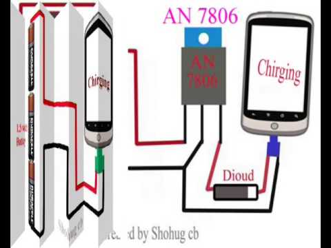 How to charge your phone using 1.5 or 9 volt volt Dc battery