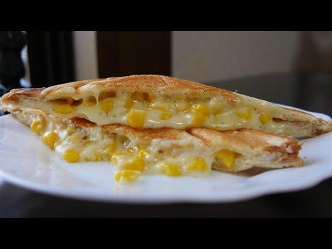 Corn and Cheese Breakfast Sandwich Maker Recipe