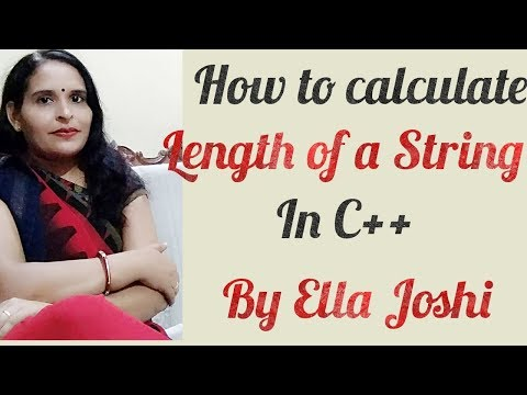 How to calculate length of  a string without using strlen () in c++