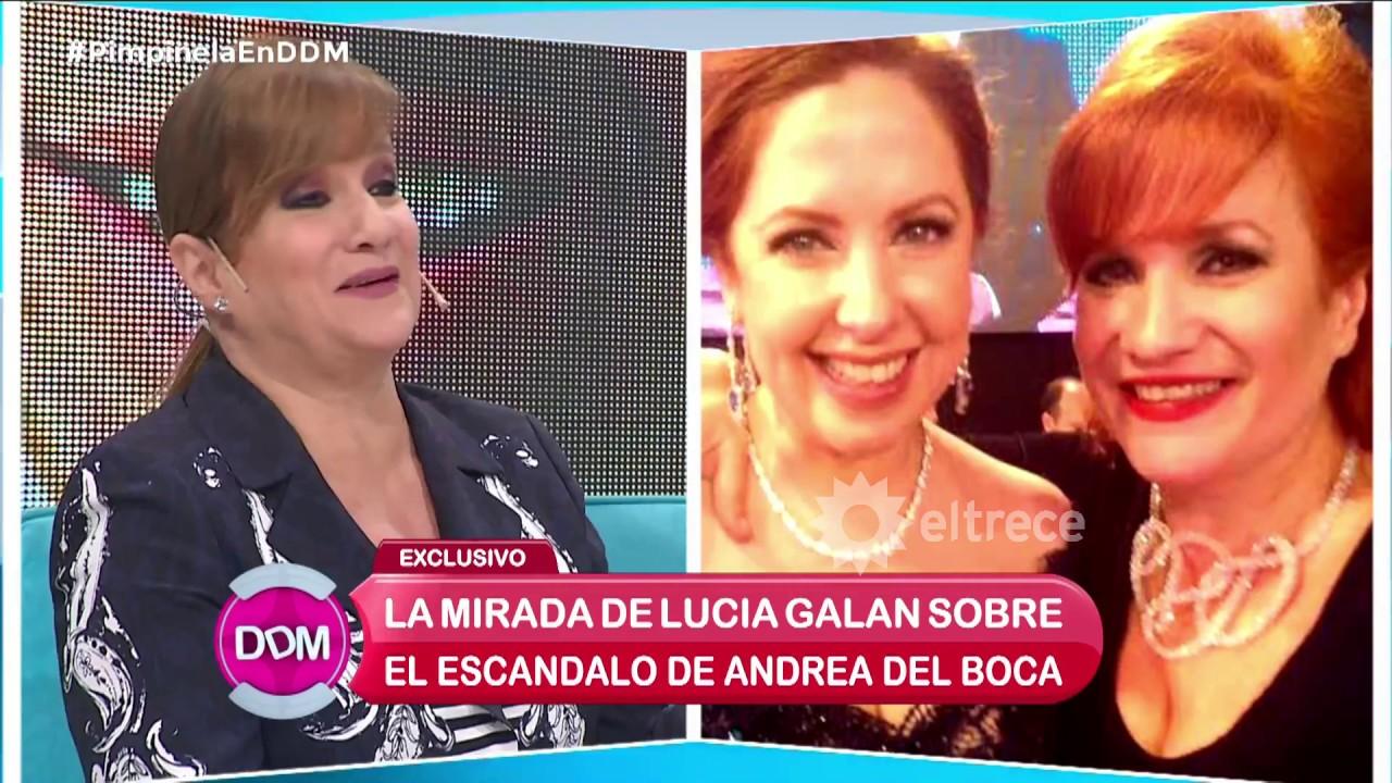 Lucía Galán contó por qué se distanció de Andrea del Boca