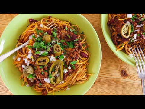 Rachael's Cincinnati/Kentucky Chili Spaghetti 5-Way Style