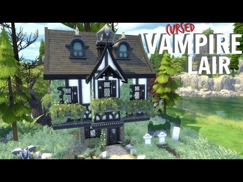 Sims 4 // CURSED VAMPIRE LAIR HAUNTED HOUSE   SPEED BUILD (No CC) Forgotten