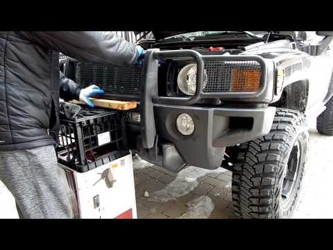 How To Install Brush Guard - Hummer H3 Grille Guard Installation