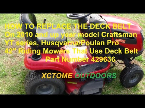 How To Replace A Deck Belt On a 2010 and up 42