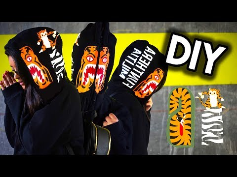 DIY BAPE TIGER FULL ZIP HOODIE | SUPER CHEAP, DURABLE, AND EASY HOW TO!