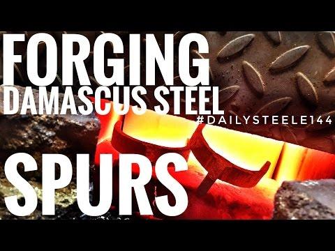 FORGING DAMASCUS SPURS! | Part 1