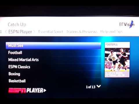 Bt vision operating system ESPN