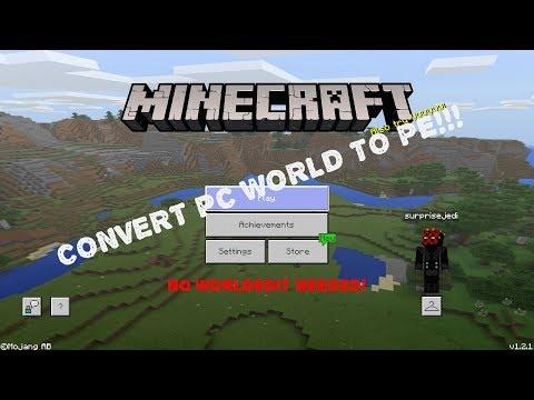 [Tutorial] How to Convert Minecraft (Java) Worlds to Minecraft (PE) [NO WORLDEDIT!!!]