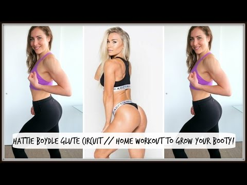 Fitness Model Hattie Boydle's Glute Building Circuit // Home Workout