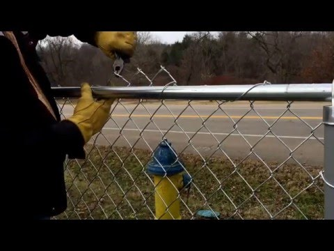 How To Remove Excess Chainlink Fence