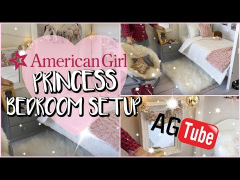 AMERICAN GIRL DOLL BEDROOM PRINCESS TUMBLR INSPIRED  OUR GENERATION BED 💕