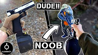 Destroying NOOBS with FULL AUTO PISTOL and INSANE Airsoft GUNS!