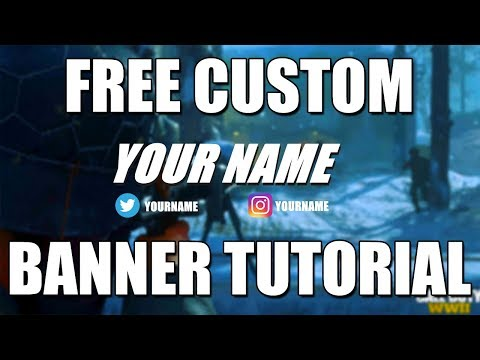 How To Make A YouTube Gaming Banner With Paint.Net FREE & EASY | No Photoshop Required!